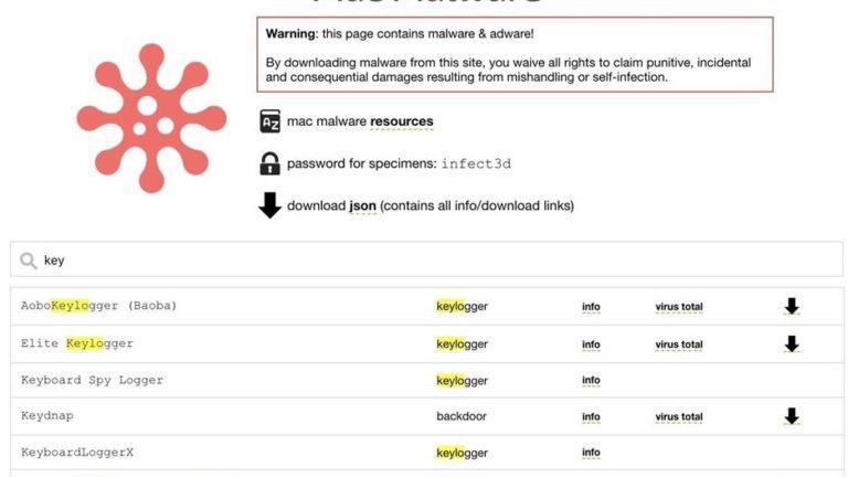 Пошук шкідливий і кейлоггеров в MacOS