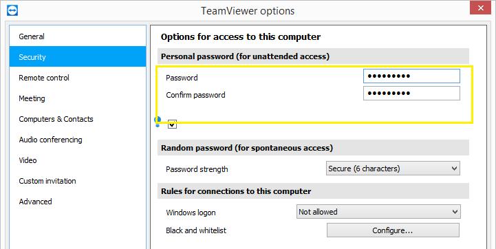 Як TeamViewer зберігає паролі