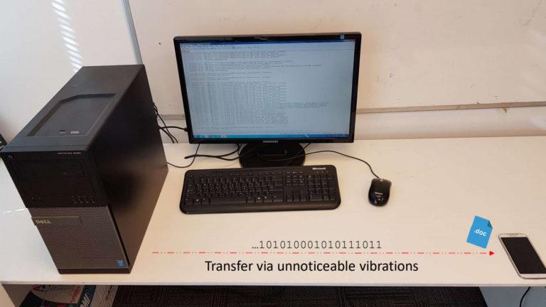 Дослідники передали дані з настільного ПК через вібрації по столу