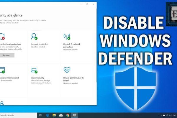 Microsoft відключив можливість заборони Windows Defender